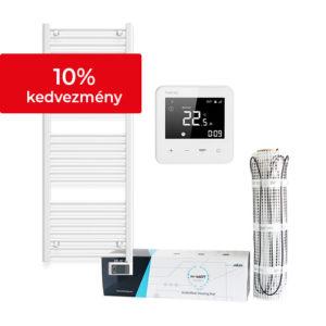 Fürdőszobai csomagajánlat Heato9 fehér termosztáttal